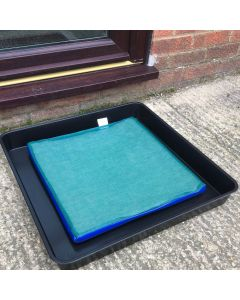 Disinfectant Foot Dip Mat and Tray